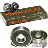 MINI LOGO by Powell Peralta / BONES Skateboard Bearings Longboard x8